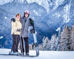 slēpošana Italijā 2017-kopā ar 1 no dēliem