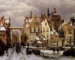 Willem Koekkoek – Winter City View