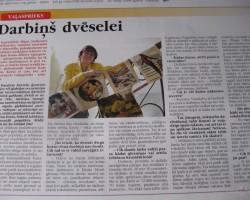 rakstiņš vietējā avīzē