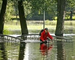 Mārupītes plūdi Arkādijas parkā