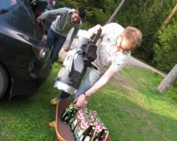 Daiveru pasākums Murmastienē(Maveriks neatbrauca, tālu redz esot). Beidzās fočukam baterija:(