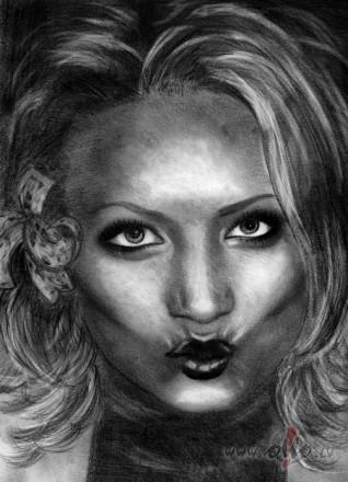 kārtējās bezmiega nakts zīmuļdarbs, pašportrets
