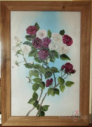 Rozes, eļļa, 40x60cm, 45 ls