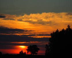 Saulriets netālu no Tukuma:)