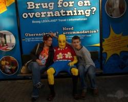 Ar krustdēlu Legolande Dānijā