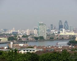 skats uz londonu no Greenwich