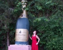 ... pus pudeles Mozeles vīns...