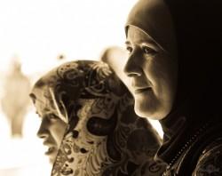 Arābu sievietes mošejā