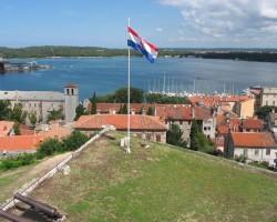 Horvātijas karogs Pulas cietoksnī