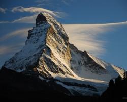 Materhorns, Monte Červino, 4478 m, Alpi, Šveice/Itālija