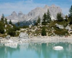 Dolomītu Alpi. Marmoladas masīvs u. c. ainavas - 1. foto