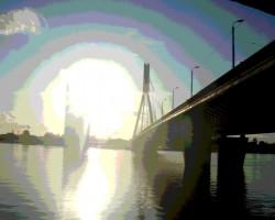 Nesen pārgāju pa Vanšu tiltu - 1. foto