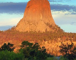 Devils Tower, 1558 m, Wyoming, USA - 3. foto