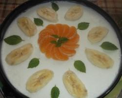 Banānu - mandarīnu suflē torte