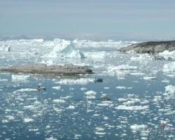 Ar laivām pa ledājiem