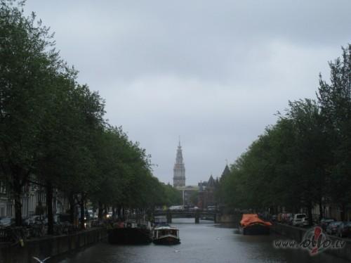 Lietainā Amsterdama (Nīderlande)