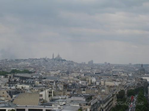 Skats uz Manmartru no Triumfa arkas (Francija)