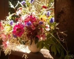 Klusā daba ar ziediem...